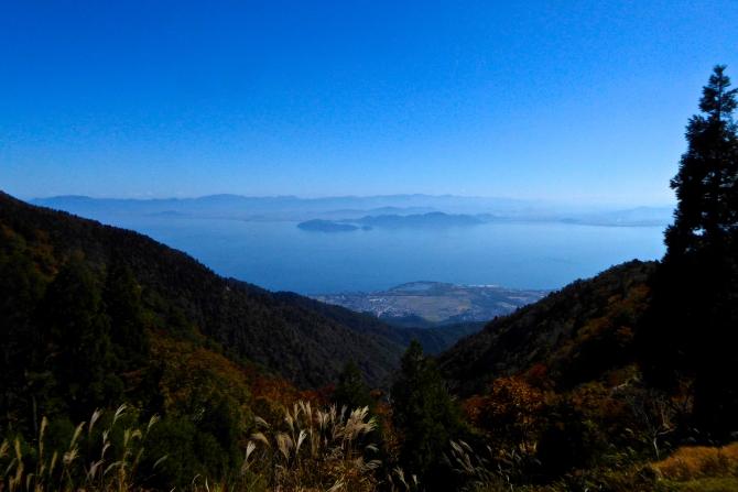 北比良峠から望む琵琶湖。